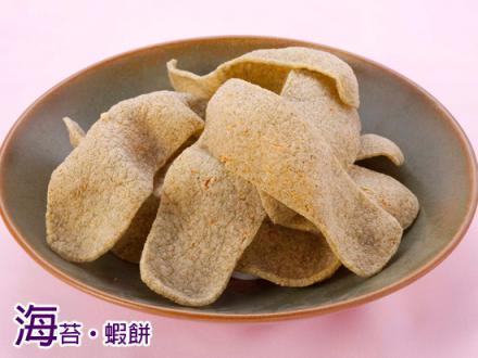 海苔。蝦餅(油炸)